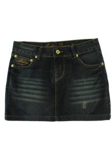 HUGO STORE - Saia Jeans Dark Wash