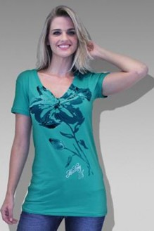 HUGO STORE - Camiseta Flowers Verde